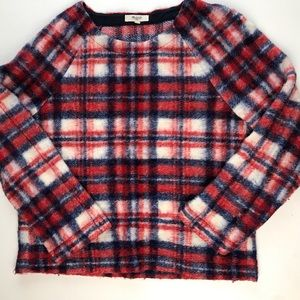 Madewell Tops - Madewell Brushed Plaid Pullover Top